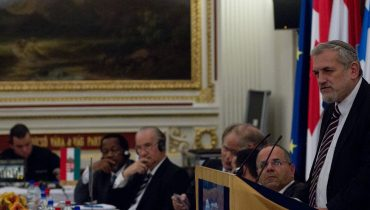 Rabbi Benny Elon at a conference of lobbying for Israel in Washington, Main Picture: Israel Allies Foundation