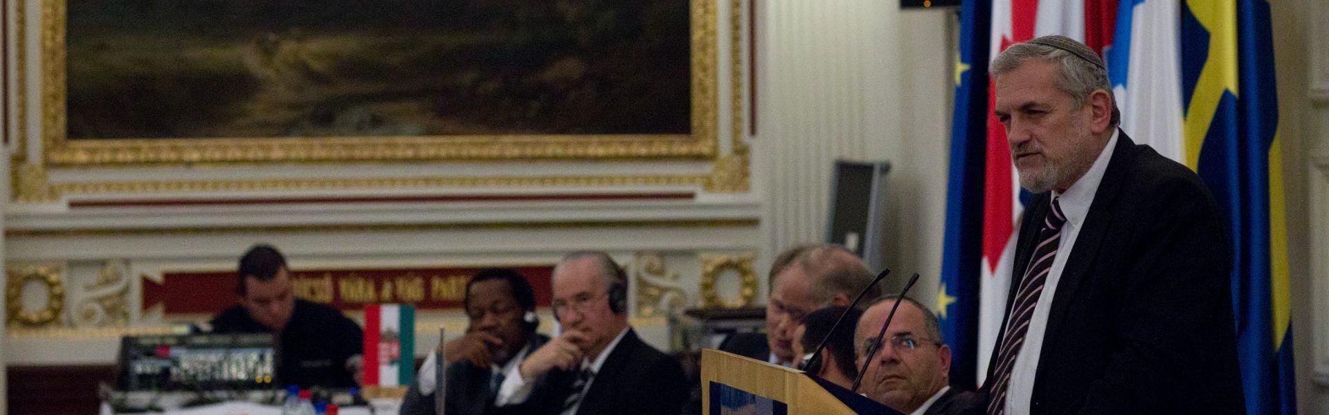 הרב בני אלון בכינוס של השדולות למען ישראל בוושינגטון, תמונה ראשית: Israel Allies Foundation