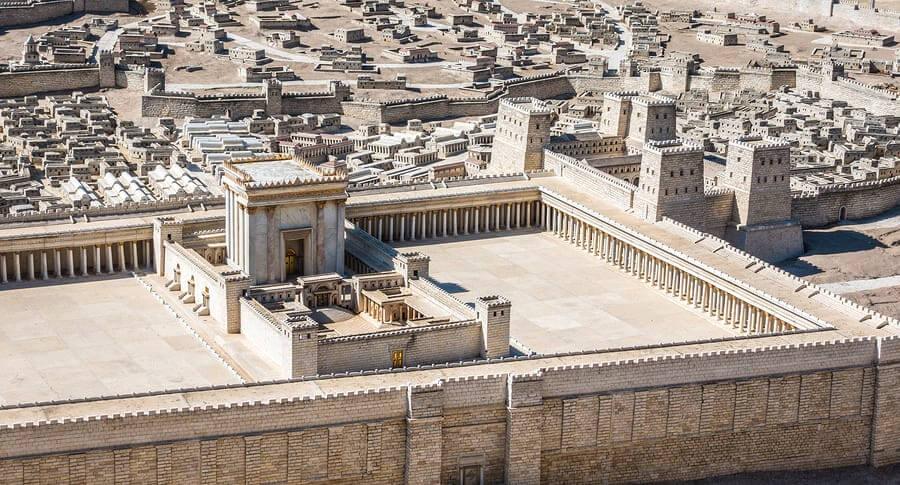 דגם בית המקדש מימי בית שני, מוזיאון ישראל. תמונה: bigstock