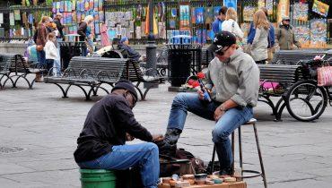 צחצוח נעליים ברחוב