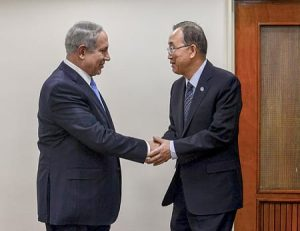 benjamin netanyahu and ban ki moon. Photo by: Kobi Gideon, GPO