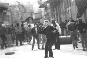 he Palestinian riots in the Nablus casbah, 1988. Photo Tzvika Israeli, GPO