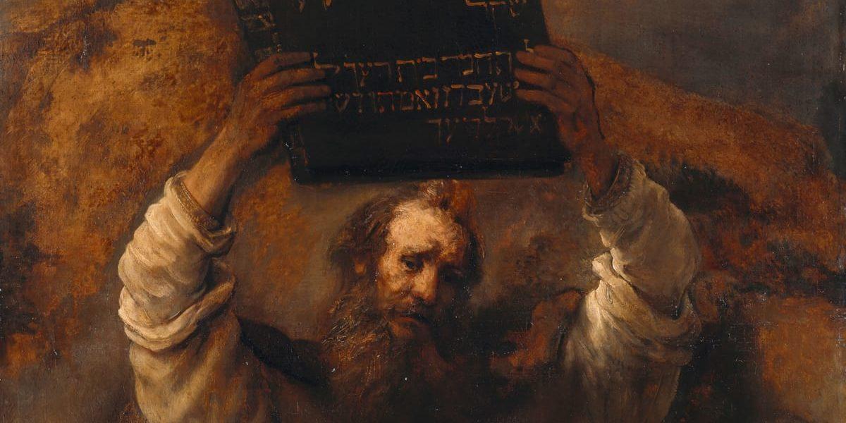 תמונה ראשית: משה שובר את לוחות הברית, רמברנדט, באדיבות ויקישיתוף
