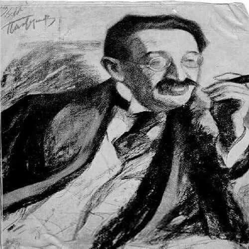 דוד פרישמן, ציור מאת בוריס פסטרנק. מוסקבה, 1917