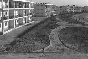 פרוייקט שיכון ממשלתי בבאר שבע, צילם: דוד אלדן, 1954, באדיבות ויקישיתוף