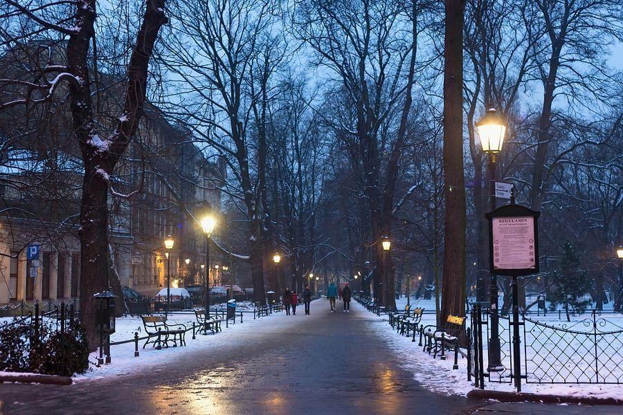 פארק מושלג באירופה. באדיבות bigstock