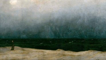 """פרט מתוך היצירה """"הנזיר שעל שפת הים"""", קספר דויד פרידריך"""