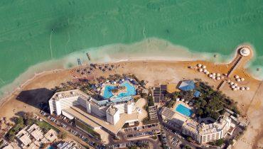 """אזור המלונות בים המלח. צילום: משה מילנר, לע""""מ"""