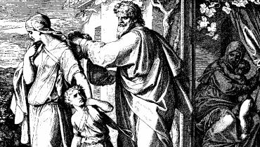 """Woodcut for """"Die Bibel in Bildern"""", 1860, Julius Schnorr von Carolsfeld / Public domain"""