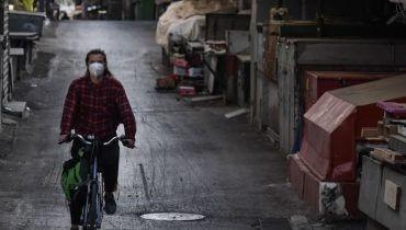 """שוק מחנה יהודה סגור בימי הסגר. צילום: קובי גדעון, לע""""מ"""