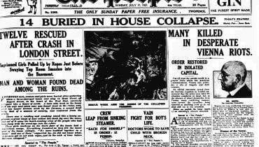 """""""כל ידיעה צריכה להיות מוגזמת: על כל מספר צריך להוסיף אפסים"""". עיתון בריטי, 1927."""