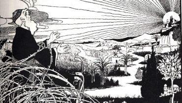 """""""אביב יהודי"""" מאת הצייר אפרים משה ליליין. מתוך ויקישיתוף."""