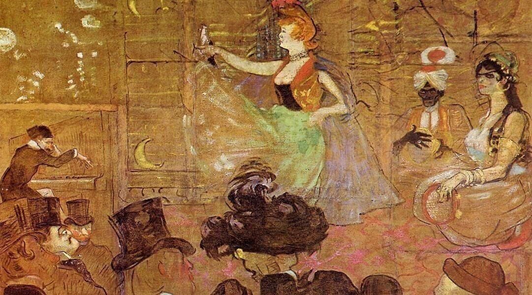 Baraque de la Goulue à la Foire du Trône: La danse mauresque ou: Les Almées), Henri de Toulouse Lautrec