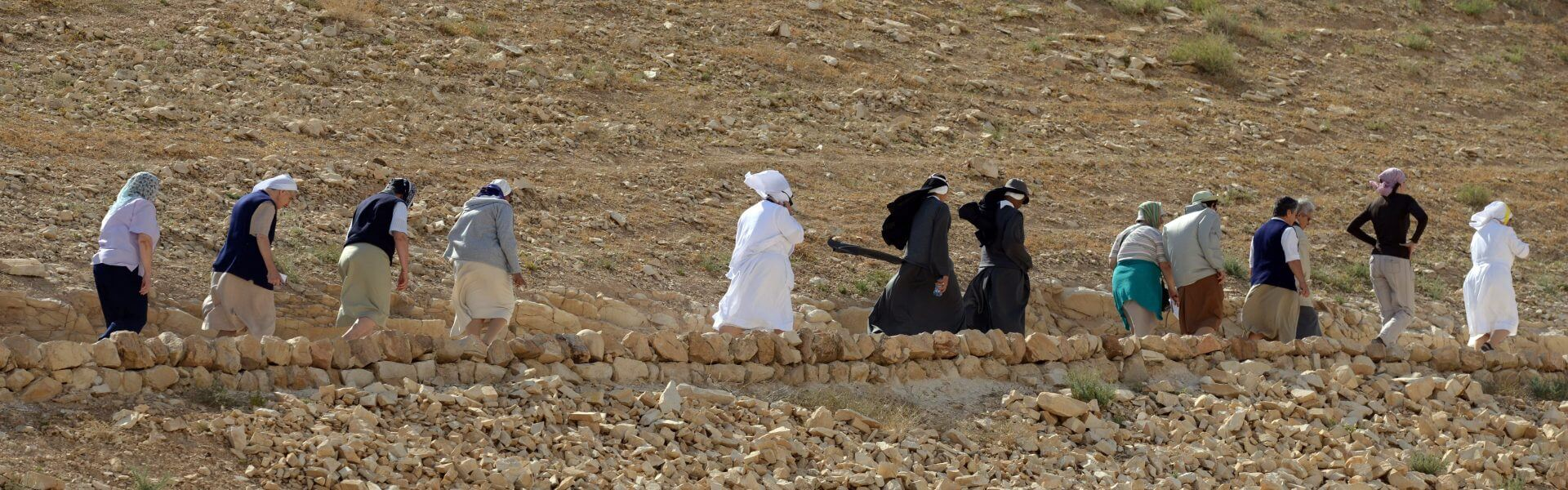 בדואים פוסעים במדבר