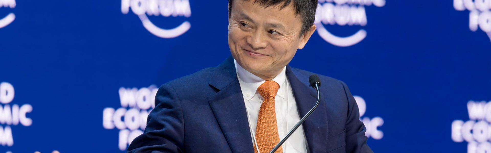 Jack Ma, YGL, Executive Chairman, Alibaba Group Holding, People's Republic of China; Member of the Board of Trustees, World Economic Forum speaking during the Session