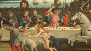 """פרט מתוך היצירה """"דקאמרון"""", סנדרו בוטיצ'לי, 1487. באדיבות ויקימדיה."""