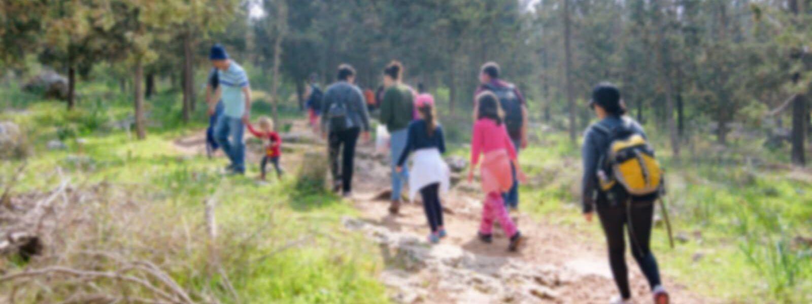 משפחה מטיילת בטבע,באדיבות Bigstock