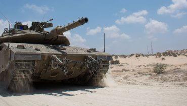 טנק ברצועת עזה במבצע צוק איתן, 2014 - ויקימדיה